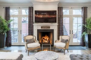 Beautiful home with gas fireplace.